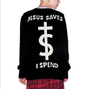UNIF Jesus Saves I Spend Cardigan